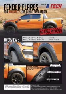 Ford Ranger.... PX 2012- 2015 -2017 . .Guard Flairs. LED Grill