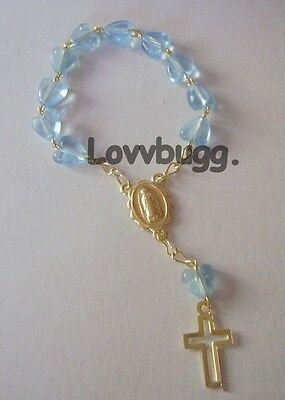 "Lovvbugg Mini Rosary Blue for 18"" American Girl Doll Lovvbugg Accessory"