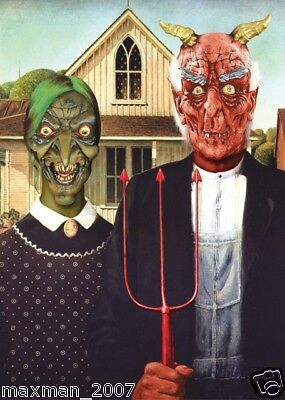 American Classic Halloween Picture Painting Prop Ghoul Zombie Devil Decoration  - Painting Halloween Props