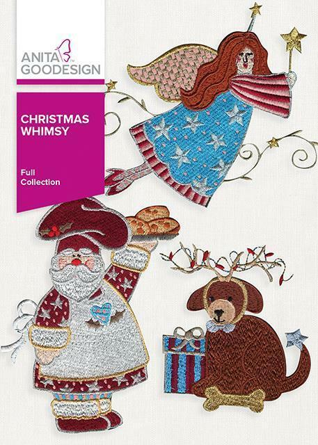 Christmas Whimsy Anita Goodesign Embroidery Machine Design CD NEW