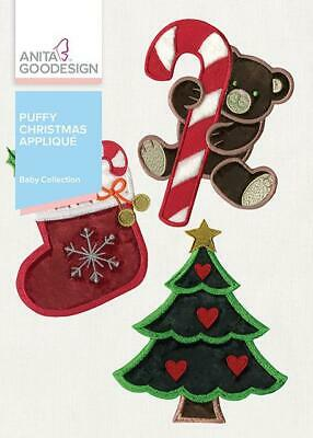 Baby Puffy Christmas Applique Anita Goodesign  Embroidery Machine Design CD ()