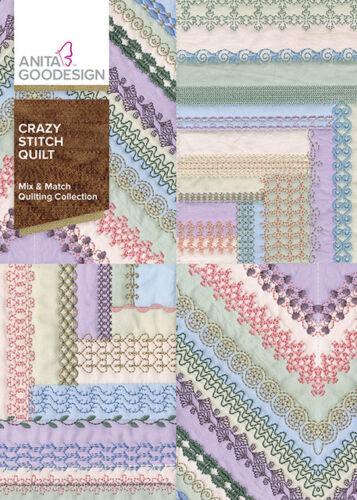 Anita Goodesign Embroidery Machine Design CD Crazy Stitch Quilt
