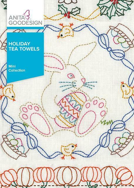 Holiday Tea Towels Anita Goodesign Embroidery Machine Design CD