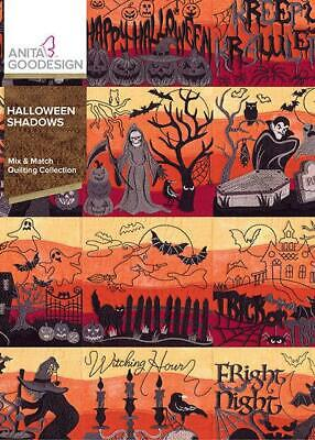 Anita Goodesign Halloween Shadows Embroidery Machine Designs CD 334AGHD