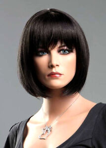 Ladies Short Wig Black Brown Blonde Red Wig Classic Bob Style Fashion Wigs