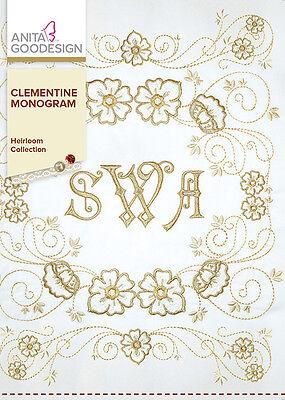 Anita Goodesign Embroidery Machine Design CD CLEMENTINE MONOGRAM - NEW