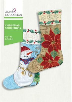 Anita Goodesign Christmas Stockings 2 Embroidery Machine Des