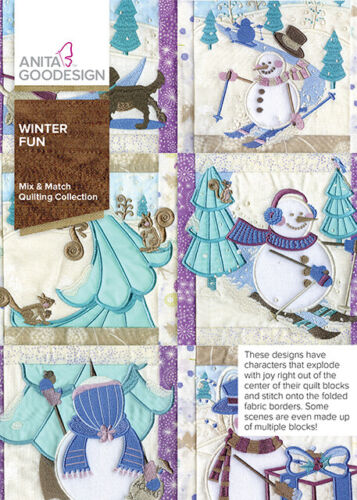 Winter Fun Anita Goodesign Embroidery Design Machine CD