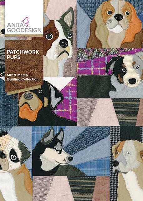 Patchwork Pups Anita Goodesign Embroidery Machine Design CD NEW