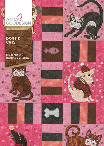 Anita Goodesign Dogs & Cats Embroidery Machine Design CD NEW