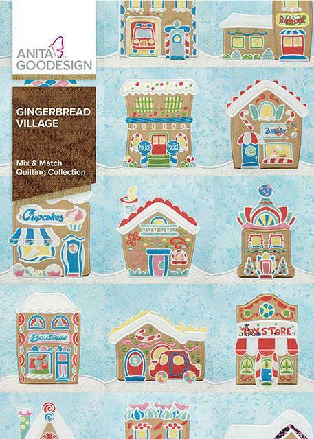 Gingerbread Village Anita Goodesign Embroidery Machine Designs CD