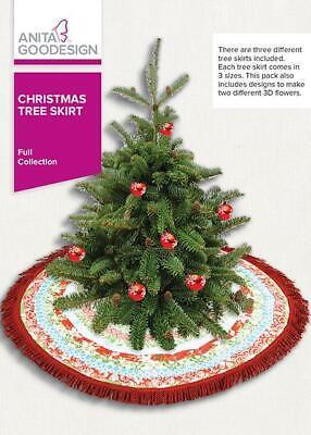 Christmas Tree Skirt Anita Goodesign Embroidery Machine Desi