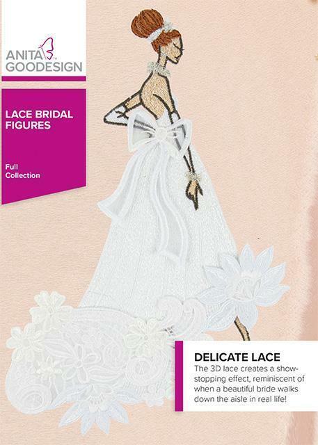 Lace Bridal Figures Anita Goodesign Embroidery Machine Design CD NEW