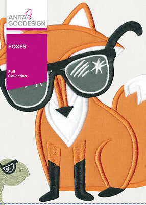 Anita Goodesign Foxes Embroidery Machine Design CD NEW