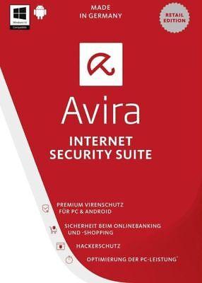 Avira Internet Security Suite 2018   1 Device   1 Year   Key Code Same Day Usa