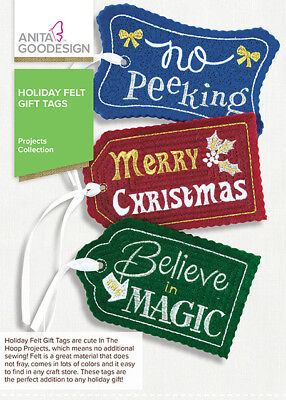 Anita Goodesign HOLIDAY FELT GIFT TAGS Embroidery Designs CD ()