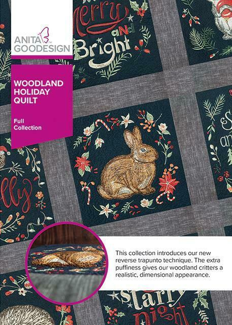Woodland Holiday Quilt Anita Goodesign Embroidery Machine Design CD