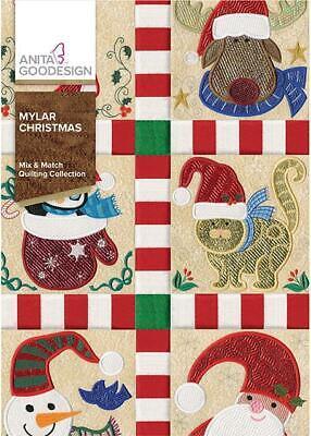 Mylar Christmas Anita Goodesign Embroidery Machine Design CD