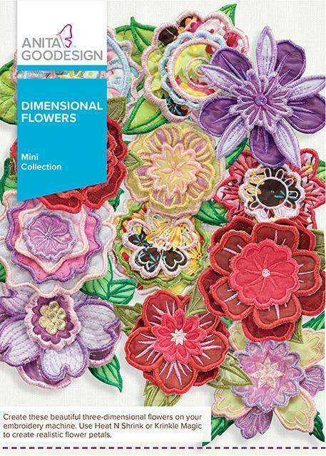 Dimensional Flowers Anita Goodesign Embroidery Machine Design CD NEW