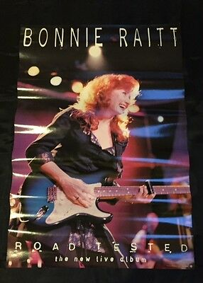BONNIE RAITT 2-SIDED PROMO POSTER FROM LP ROAD TESTED LIVE ALBUM 1995 MINT RARE