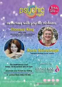 Psychic Night with Florence King (Psychic TV)& Kerrie Barraclough Shellharbour Shellharbour Area Preview