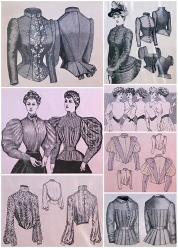 Victorian Edwardian Civil War Bodices Jackets, Blouses, Dresses, Truly Victorian