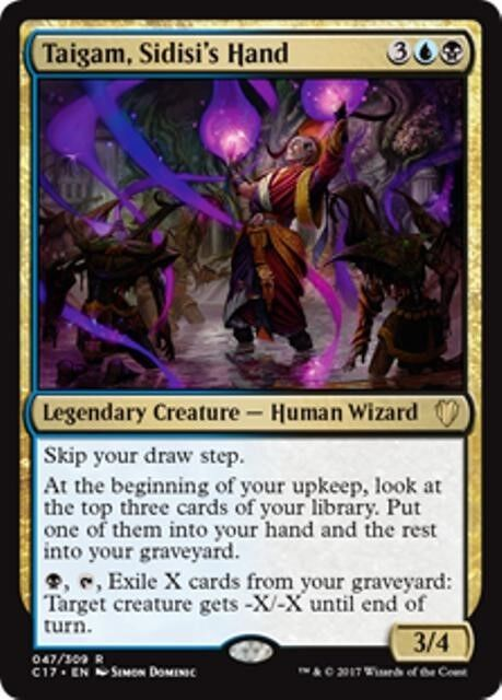 NIN THE PAIN ARTIST Commander 2017 MTG Gold Creature — Vedalken Wizard Rare