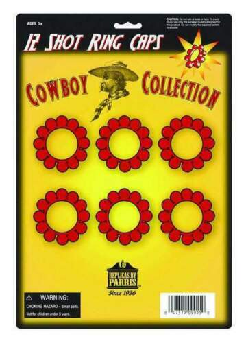 2 PACKS PARRIS 12 SHOT RING CAPS - COWBOY COLLECTION -144/PACK - 288 TOTAL SHOTS