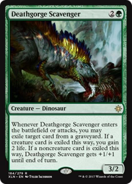 DEATHGORGE SCAVENGER Ixalan MTG Green Creature — Dinosaur Rare