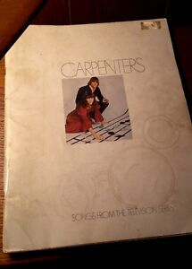 The Carpenters Sheet Music Song Book from TV Series