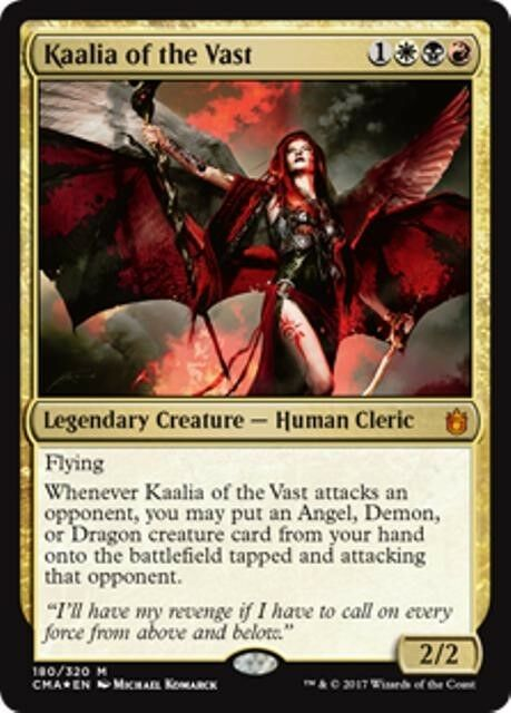 Foil Commander Anthology MTG Gold Creature — Cleric Mythic KAALIA OF THE VAST