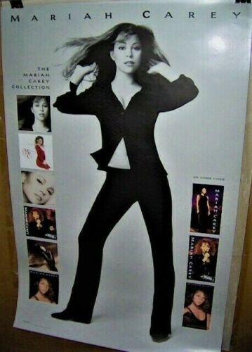 MARIAH CAREY Original Large Full Color Poster 1995 Sony Music Very COOL