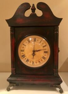 Vintage design clock with secret compartment $20, like new