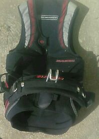 Kitesurfing harness and impact vest
