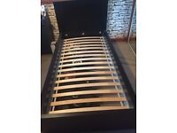 Black ikea single bed with storage