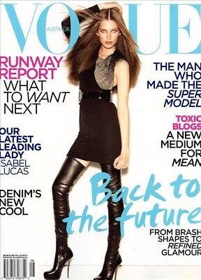 Vogue Australia Magazine 8/2009 fashion women LUCAS KELSEY VAN MOOK