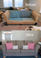 Upholstery and repair of couch and chairs