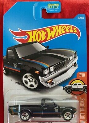 HOT WHEELS 2017 - DATSUN 620 - HW HOT TRUCKS 7/10 Black 1/64 FREE SHIPPING!