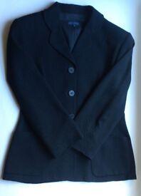 Adolfo Dominguez Black Ladies Suit, European 42, Petite Fit