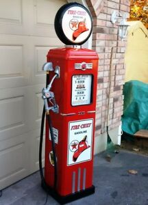 FULL SIZE REPRODUCTION 1950`s  ERIE GAS PUMP VINTAGE FIRE CHIEF