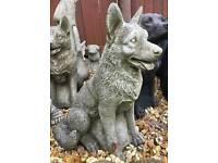 Stone garden dogs German Shepherd boxer etc