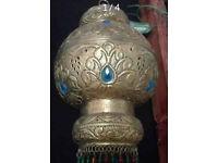 Light up electric Morocan lamp
