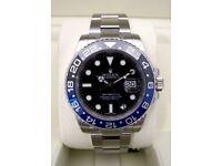 rolex submariner gmt ii- rolex hulkceramic bezal .waterproof . sapphire glass.2.5 date. glide lock.