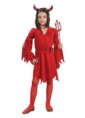 LITTLE EVIL RED DEVIL GIRL CHILD HALLOWEEN COSTUME GIRL'S SIZE SMALL 4-6 - Little Red Devil Halloween Costume