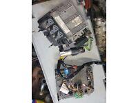 Peugeot 1.4 8V ECU, BSI, Key, Ignition Barrel, Transponder (2004)