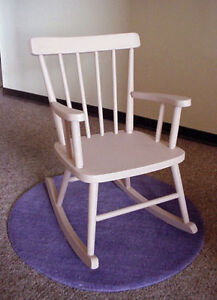 Child Size All Wood Rocking Chair Taupe