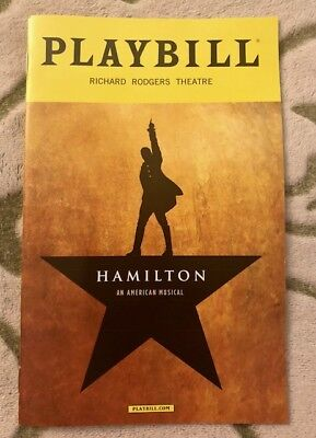 Hamilton playbill - Broadway - *Brand New!* - Free shipping, goes out same day!