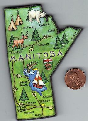 MANITOBA  CANADA PROVINCE ARTWOOD  MAP MAGNET  WINNIPEG  CHURCHILL  GRAND RAPIDS