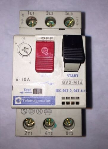 NEW SCHNEIDER ELECTRIC MANUAL MOTOR STARTER (#GV2-M14)
