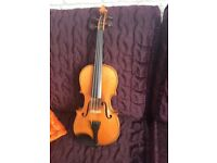 Violin, 3/4 size, German, made around 100 years ago, plus case. Lovely tone, big sound!